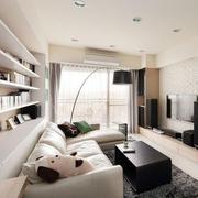 后现代简约风格客厅长沙发装修