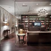 欧式别墅奢华书房装修