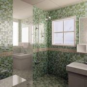 密集型拼色卫生间瓷砖