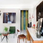混搭风格小户型一居客厅设计