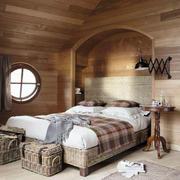美式原木阁楼卧室装修