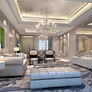 120平米欧式简约风格客厅装修
