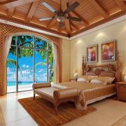 卧室原木吊顶装饰设计