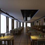 现代简约风格西餐厅效果图
