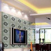 现代风格清新背景墙装饰