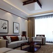 中式客厅沙发背景墙