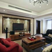 欧式别墅客厅电视背景墙装饰