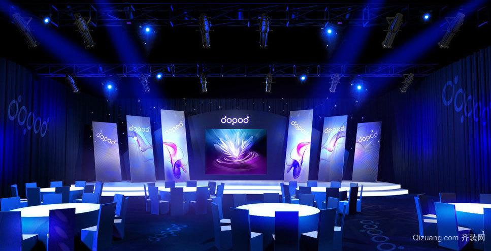 表演者的天堂:绽放光芒的舞台背景灯光装修设计图