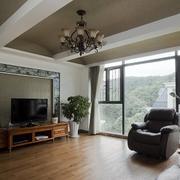 别墅简约风格电视背景墙设计