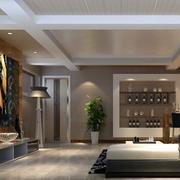 美式风格家庭影院灯饰设计