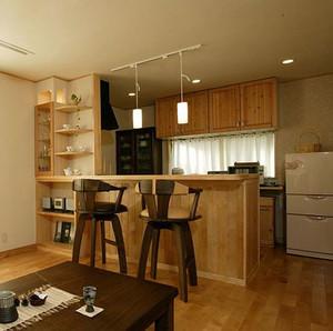 日式木制客厅吧台设计