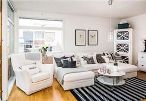 都市白领的舒适生活:北欧风格客厅装修效果图