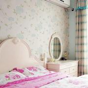 清新印花卧室壁纸装饰