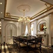 欧式奢华餐厅背景墙设计