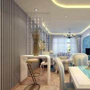 简约风格客厅珠帘隔断设计