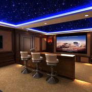 美式家庭影院吧台设计