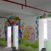 简约风格幼儿园教室背景墙