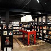后现代风格深色书店装修