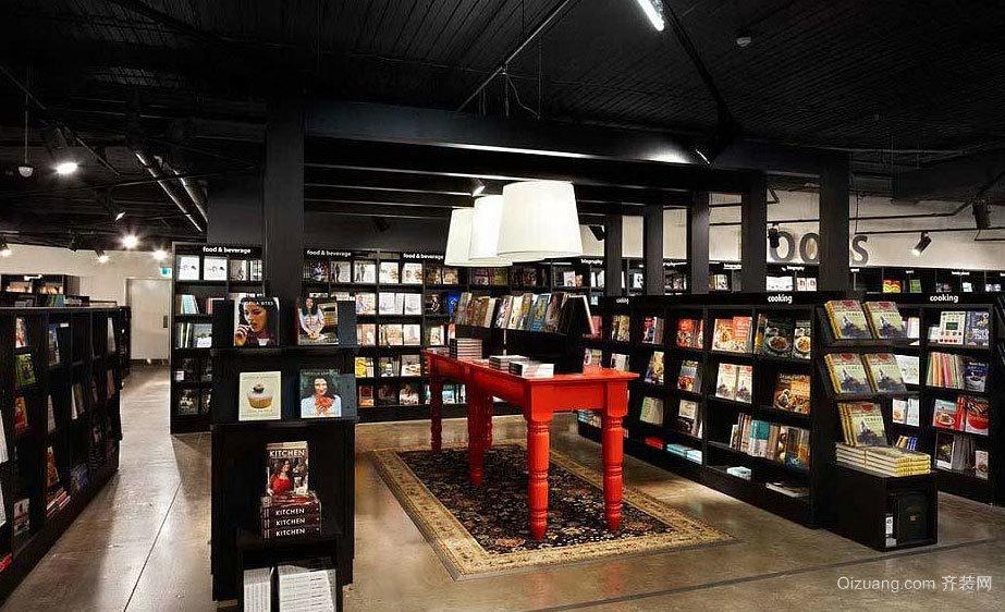 精神盛宴:可以让您废寝忘食的书店室内装修设计效果图