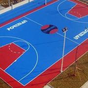 幼儿园小型篮球场地橡胶设计
