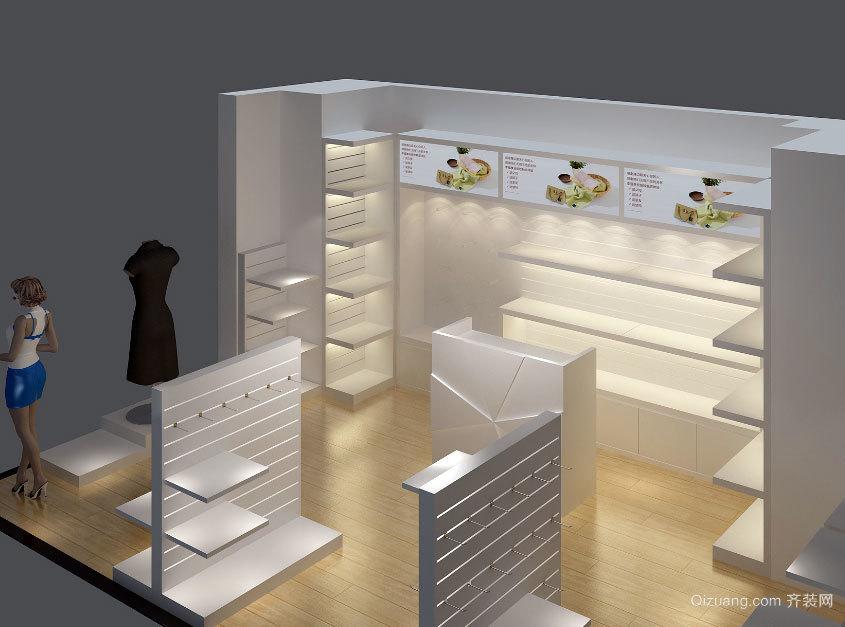 2015商场精美别致的化妆品玻璃展柜装修效果图欣赏大全