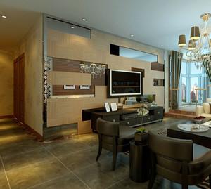 门前一道风景线:大户型时尚客厅过门石设计效果图欣赏大全