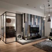 别墅简约风格木制地板装饰