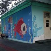 幼儿园卡通形象背景墙装饰