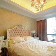 别墅卧室简约背景墙设计
