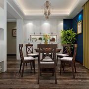 简约风格餐厅中式桌椅设计