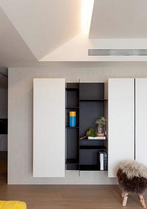 大放光芒的极简新房两室一厅装修效果图