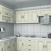 欧式奢华白色L型厨房