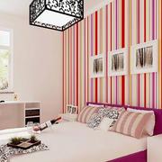 现代简约风格卧室壁纸装修