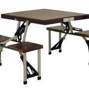深色原木折叠桌