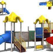 公园专用滑滑梯3D效果图