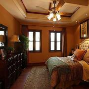 东南亚风格卧室床头背景墙
