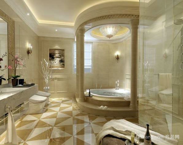 欧式风格的卫生间装修效果图