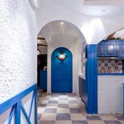 地中海风格客厅拱形门设计