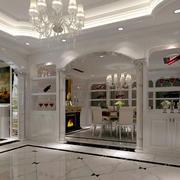 欧式奢华白色酒柜装饰