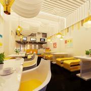 甜品店简约桌椅设计