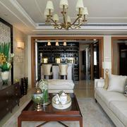 法式风格客厅灯饰设计
