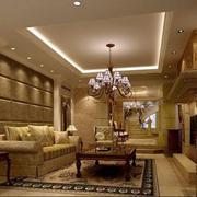 欧式客厅奢华地板瓷砖设计
