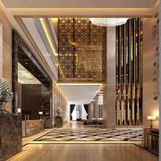 大型简约风格酒店大堂装饰