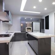 后现代风格厨房吧台效果图