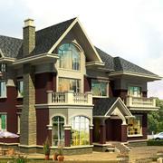 斜顶别墅外观图片