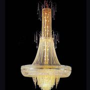 别墅挑空客厅水晶灯装修