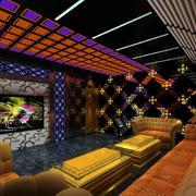 欧式简约风格ktv软质沙发装饰
