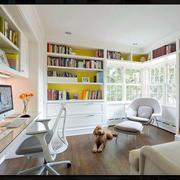 两室一厅书房整体书架设计
