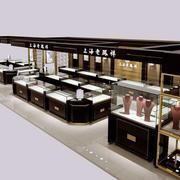 现代简约银店展示柜