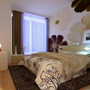 简约印花设计卧室背景墙